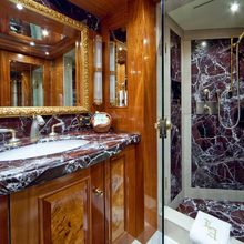 Lady Anastasia Yacht Blue Guest Bathroom