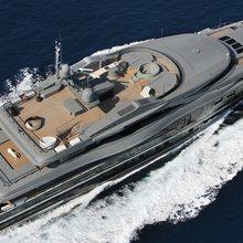 Nonni II Yacht Running Shot - Aerial