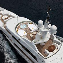 Lady Anastasia Yacht Aerial View
