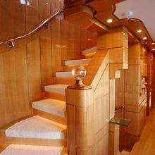 Lady MM Yacht Staircase