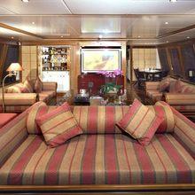 The Lady K Yacht Salon Seating