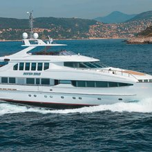 The Lady K Yacht Running Shot