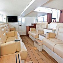 Seven Seas Yacht Interior Seating of Tender