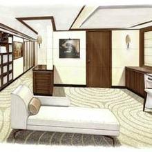 Seven Seas Yacht Artist's Impression - Master Lounge