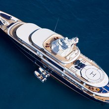 Leander G Yacht Aerial View