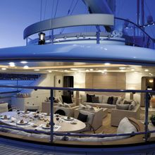 Caoz 14 Yacht Aft Deck - Evening