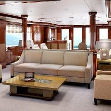 Checkmate Yacht Artist's Impression - Main Salon Looking Aft