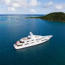 Majestic Yacht Landscape Shot