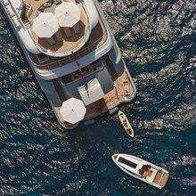 Ventum Maris Yacht Overhead - Towing Tender