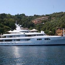 Paraffin Yacht At Anchor