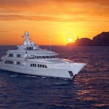 Majestic Yacht Sunset