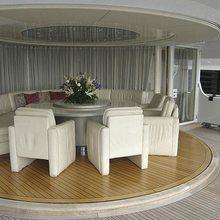 Lady Arraya Yacht Inside Outside Dining