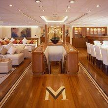 M5 Yacht Main Salon & Stairs