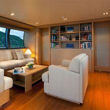 Exuma Yacht Upper Deck - Evening
