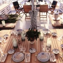 Enigma Yacht Exterior Dining