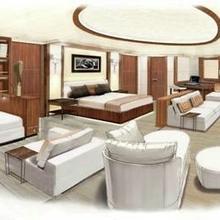 Seven Seas Yacht Artist's Impression - Master Stateroom