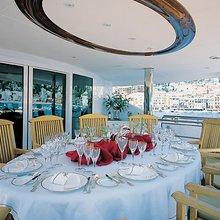 The Lady K Yacht Sundeck Dining
