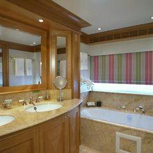 The Lady K Yacht Master Bathroom