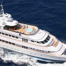 Ionian Princess Yacht Running Shot - Overhead