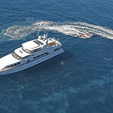 Haven Yacht Aerial View with Tenders
