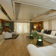 Grand Mariana II Yacht Saloon Side View