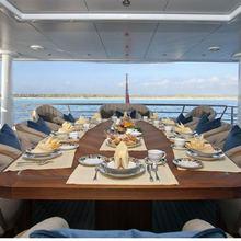 Ventum Maris Yacht External Dining Area