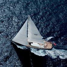 Yam 2 Yacht Running Shot - Aerial