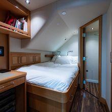 Amicitia Yacht Captain's cabin