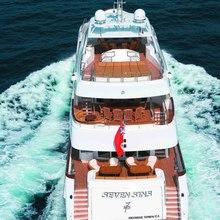 The Lady K Yacht Running Shot - Stern