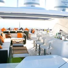 Barracuda Red Sea Yacht Flybridge Bar