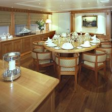The Lady K Yacht Interior Dining