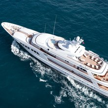 Majestic Yacht Running Shot - Aerial View