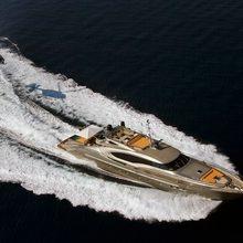 Bagheera Yacht Running Shot - Aerial View