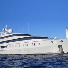 Neom Yacht Picture of the starboard side