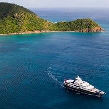 Leander G Yacht Running Shot - Aerial View