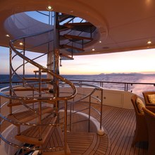 Huntress Yacht Bridge Deck Aft