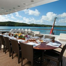 Majestic Yacht Exterior Dining