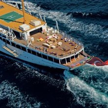 Savarona Yacht Aft - Helipad & Sundeck