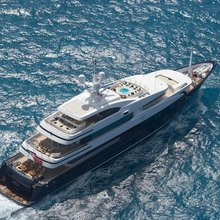 Ice Angel Yacht Aerial View
