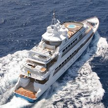 Ionian Princess Yacht Aerial View - Rear