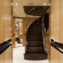 Caoz 14 Yacht Lower Stairwell