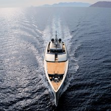 Exuma Yacht Aerial Shot - Front