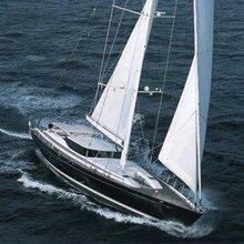 Nashira II Yacht Running Shot - Front View