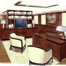 Seven Seas Yacht Artist's Impression - Master Study