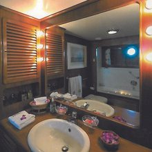 Blue Gold Yacht Master Bathroom
