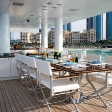 Dragonfly Yacht Exterior Dining