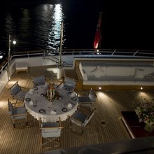 Golden Fleet Yacht Exterior Dining - Night