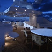 Vision Yacht Exterior Seating - Night