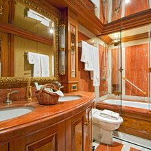 Lady Anastasia Yacht Red Guest Bathroom