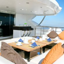 Barracuda Red Sea Yacht Outside Dining Table
